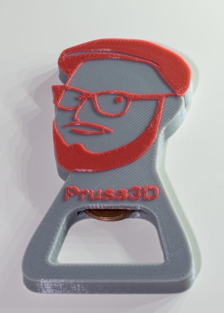 Prusa bottle opener